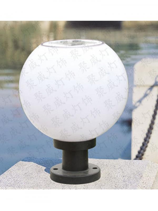 圆形柱头灯